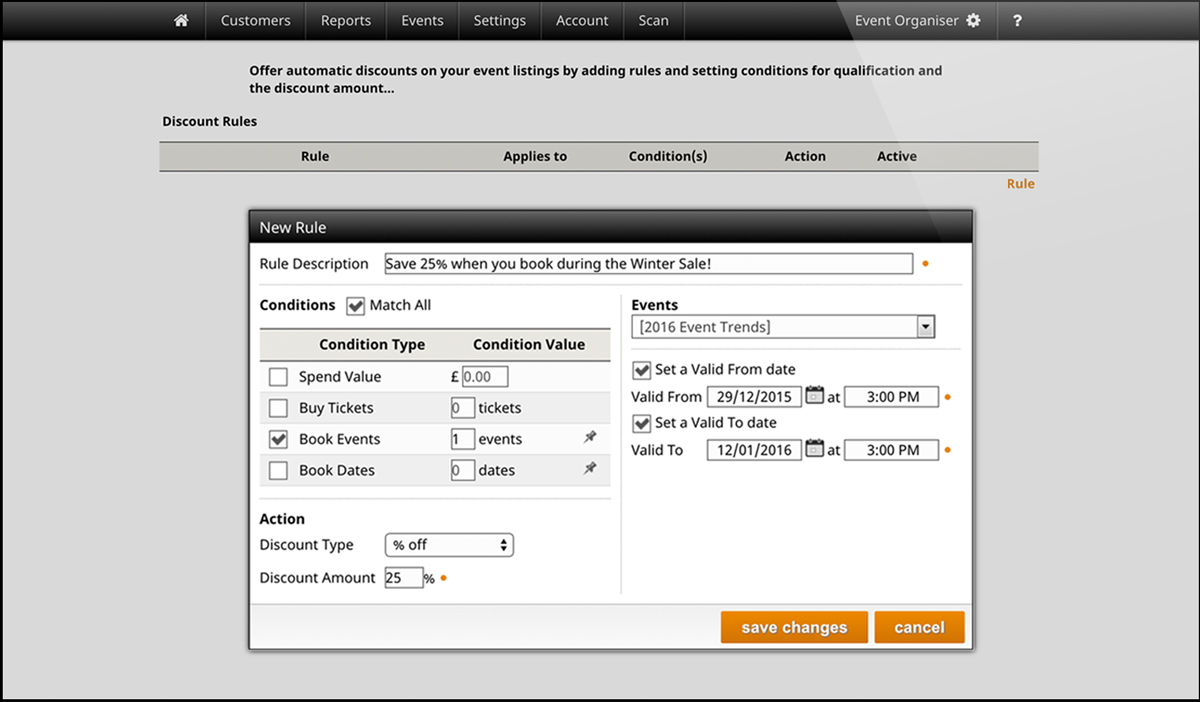 Automatic discounts screenshot