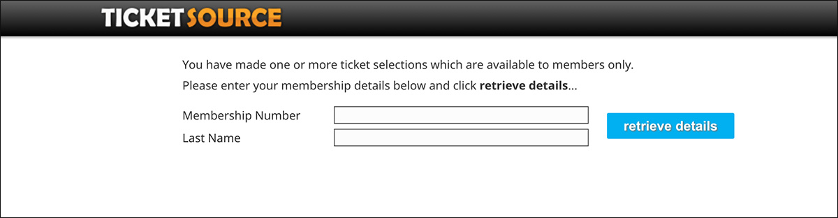 customer will need to enter membership number when booking online
