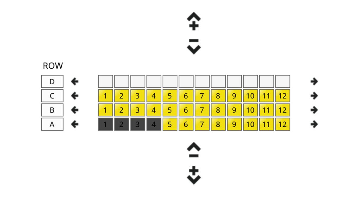 screenshot of adding seats