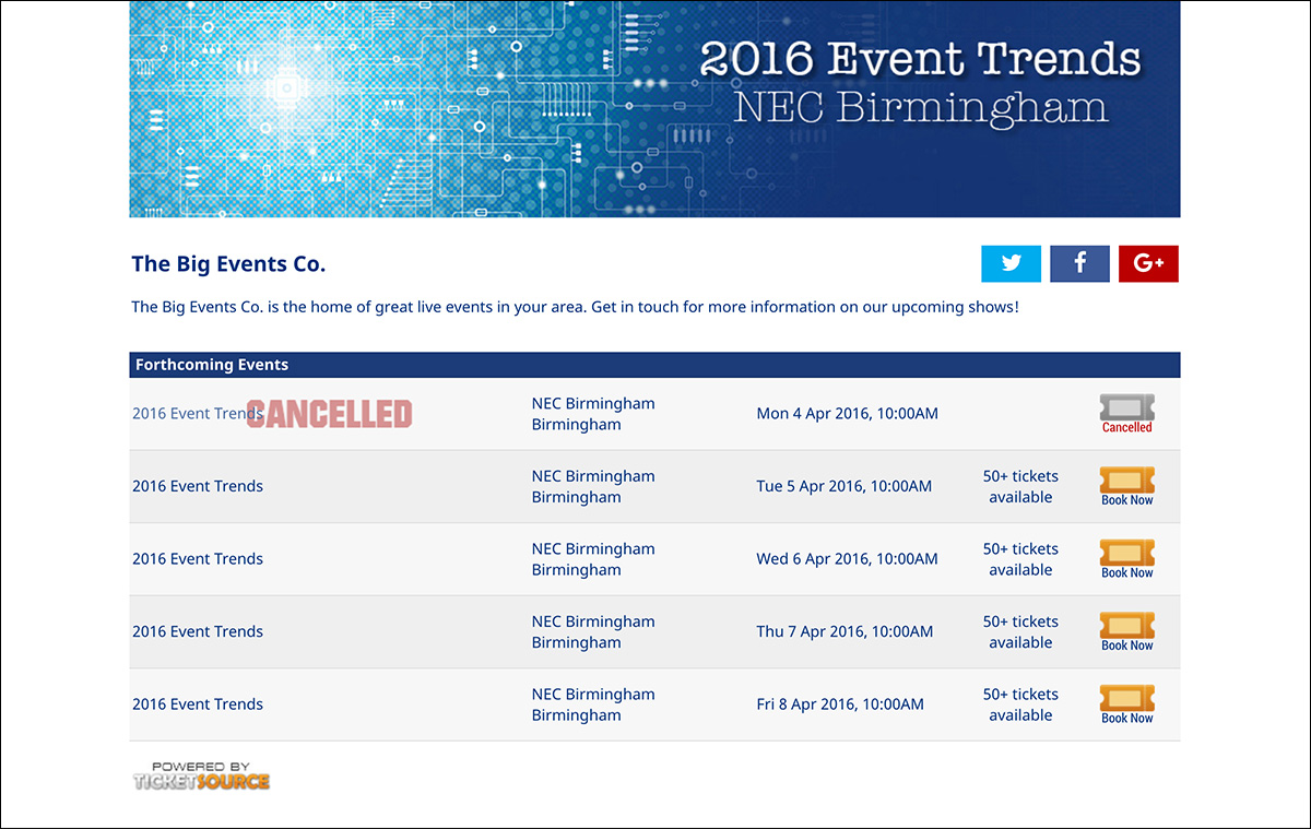 sales page showing cancellation