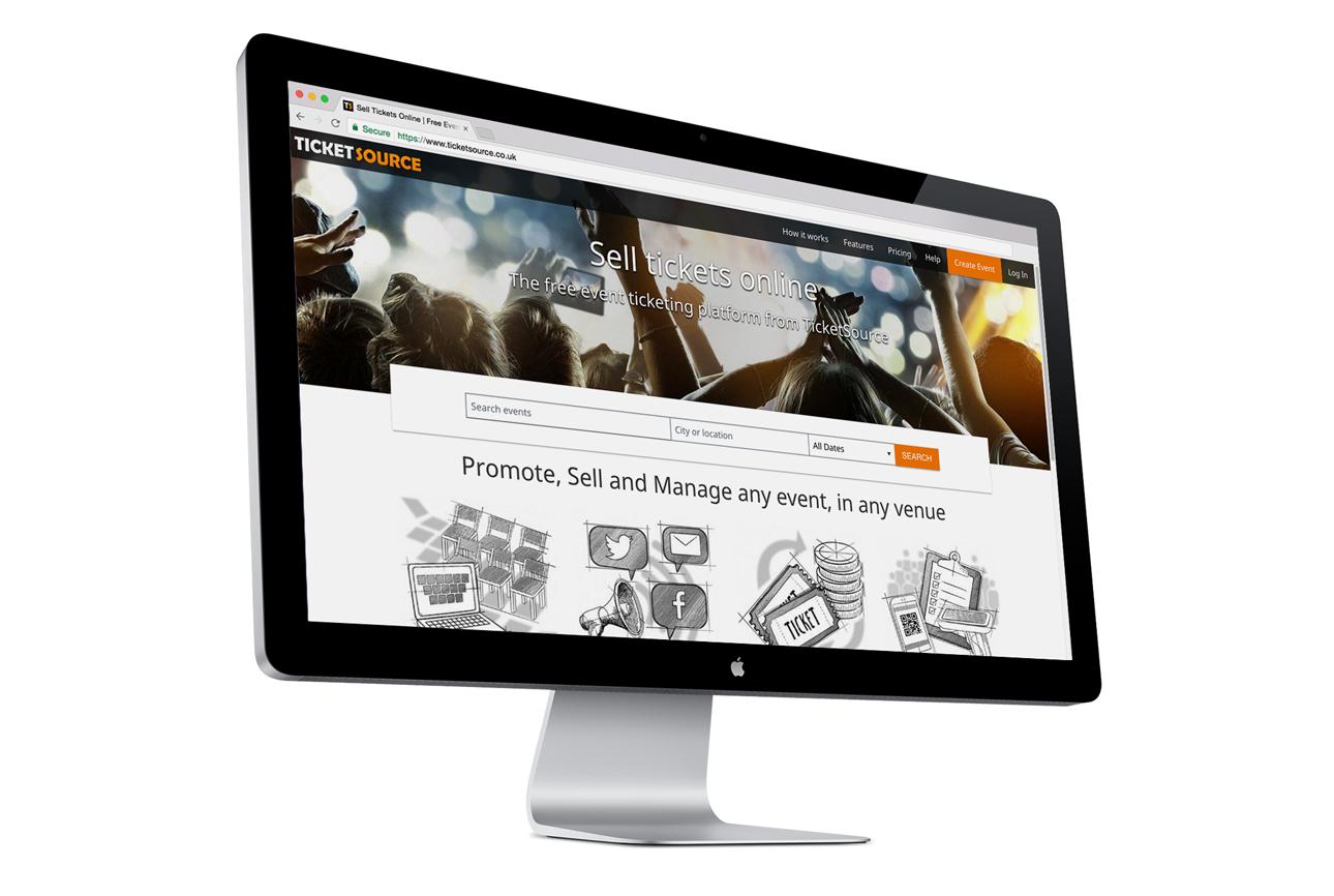 Website on a desktop computer