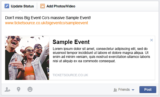 Facebook URL preview