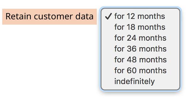 Customer Data Retention Period