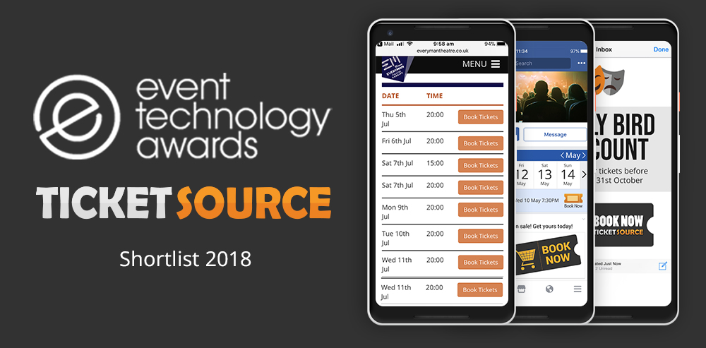 event technology award TicketSource