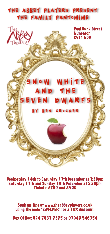 Abbey Players Present Snow White And The Seven Dwarfs By Ben Crocker