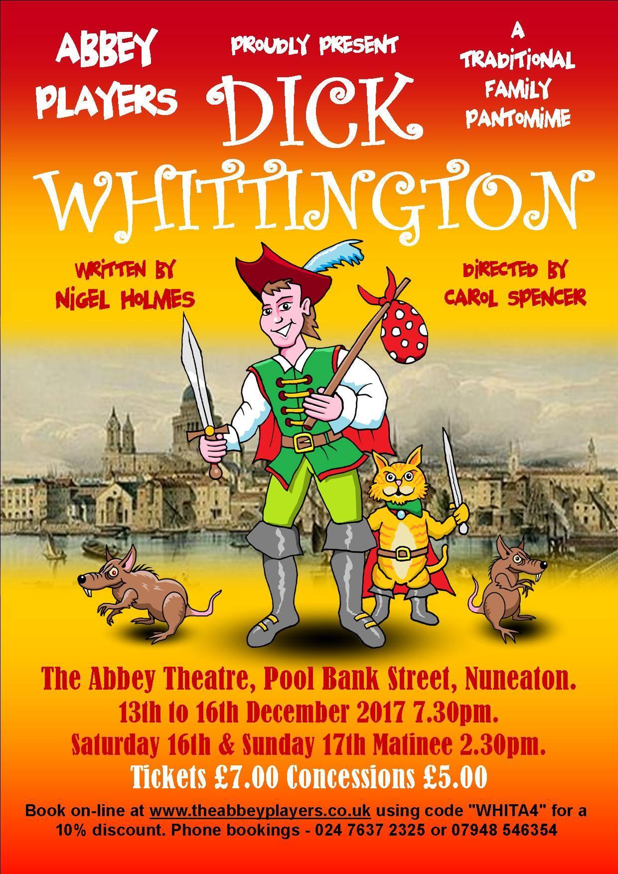 Abbey Players Present Dick Whittington By Nigel Holmes