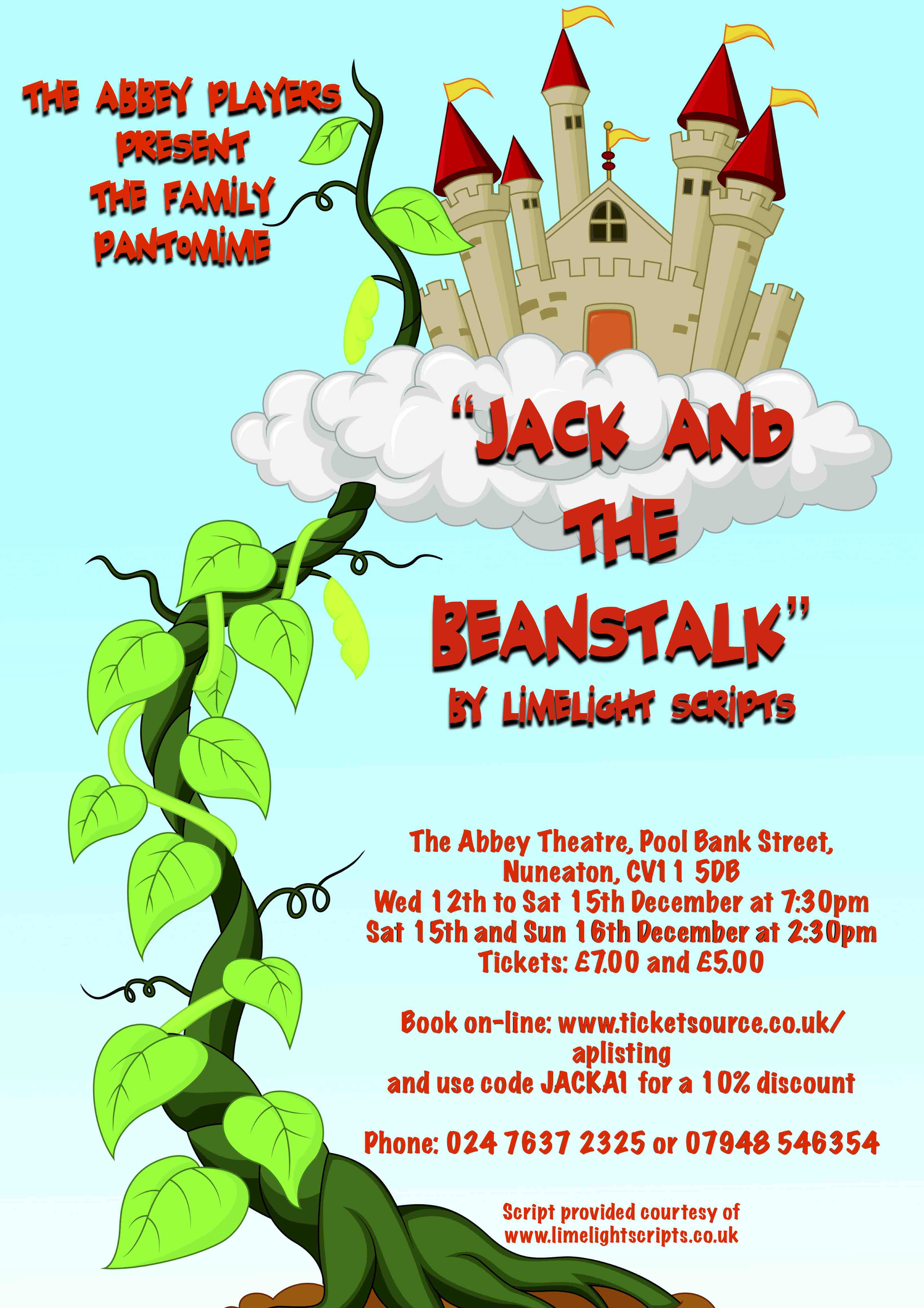Abbey Players Present Jack And The Beanstalk By Limelight Scripts