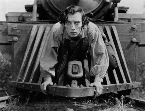 THE GENERAL & THE HIGH SIGN - Buster Keaton silent films banner image
