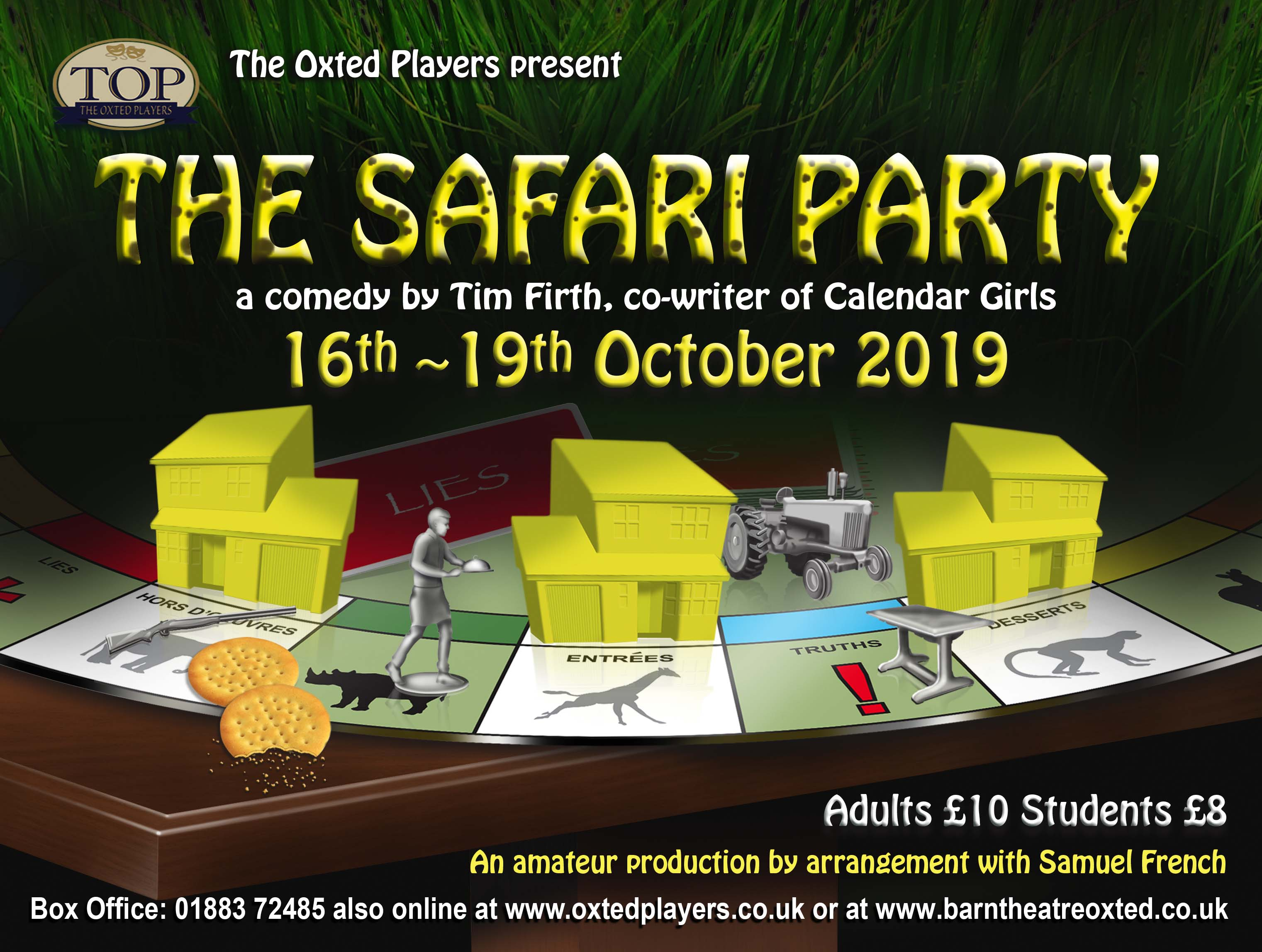 Safari Party, a comedy by Tim Firth, co-writer of Calendar Girls banner image