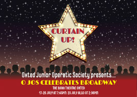 Curtain Up, Oxted Junior Operatic celebrating Hollywood banner image