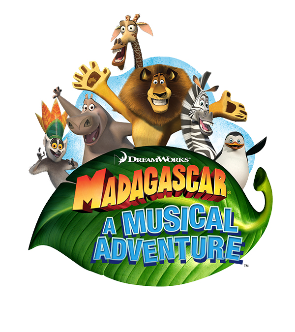 A logo for the show: Madagascar, A Musical Adventure