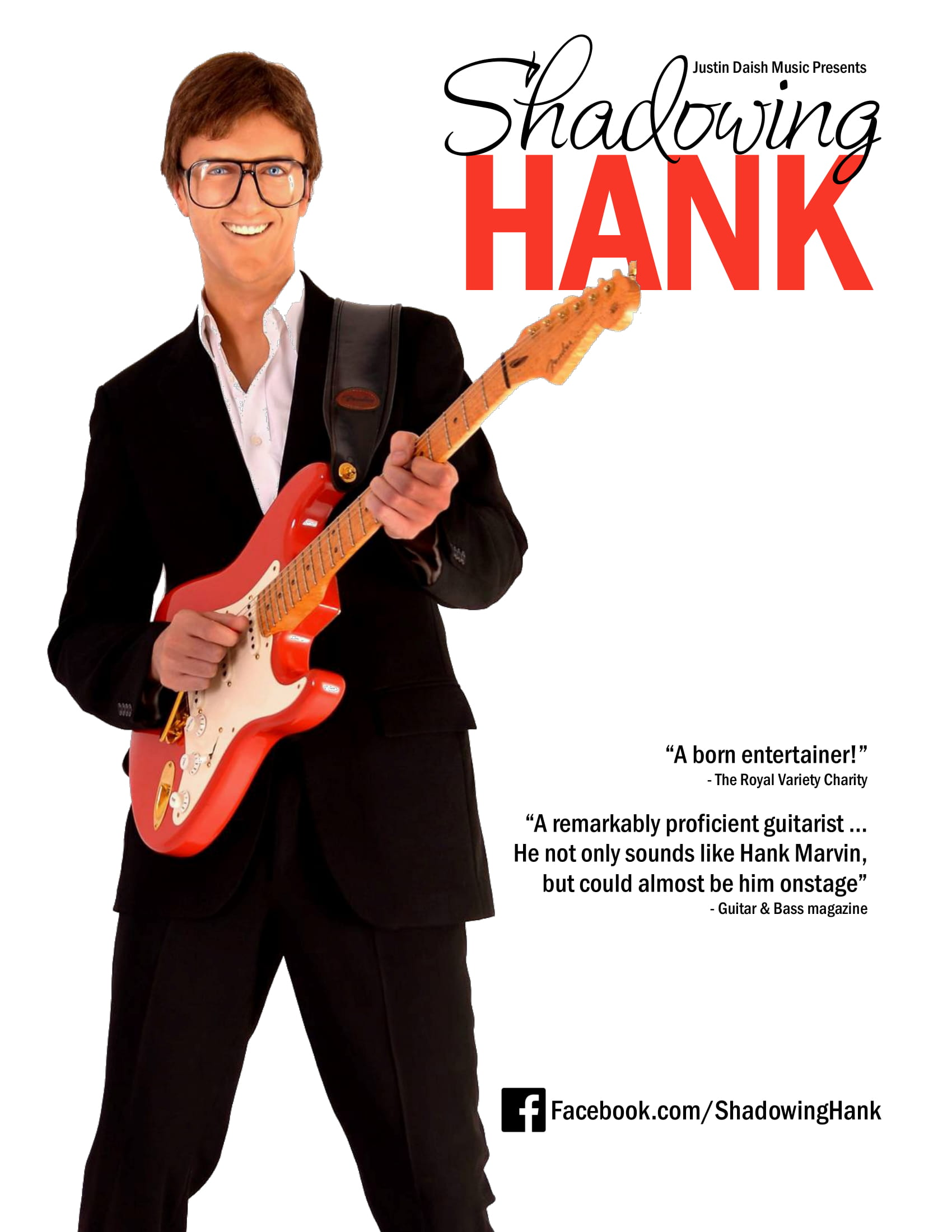 Shadowing Hank - A Celebration of the music of Hank Marvin banner image