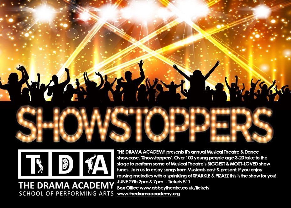 "The Drama Academy presents ""Showstoppers"" banner image"