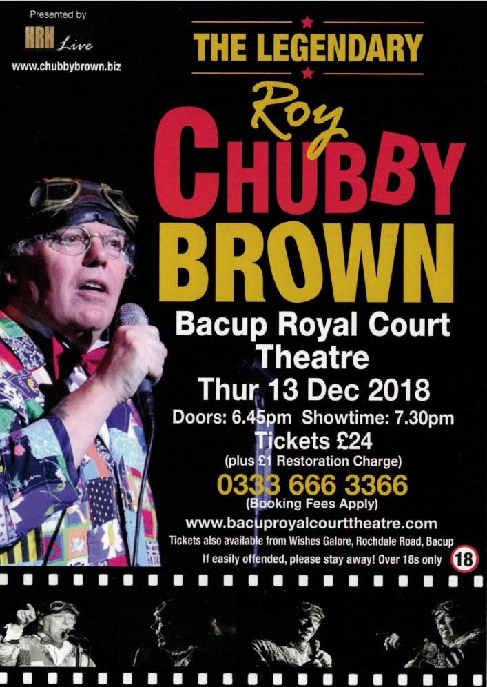 Brown chubby joke roy