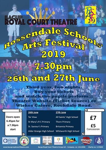 Rossendale Schools Arts Festival banner image
