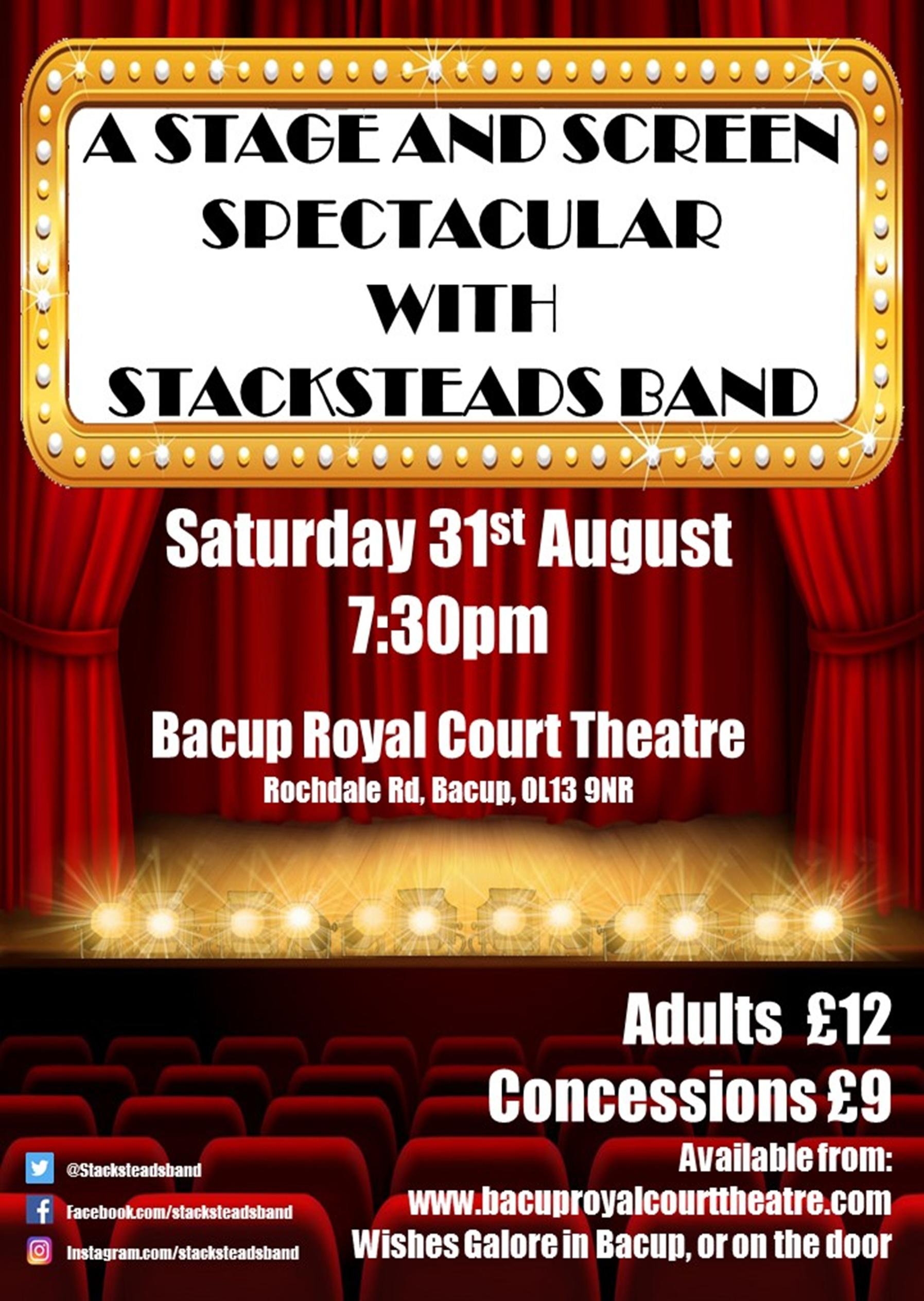 A Stage and Screen Spectacular with Stacksteads Band banner image