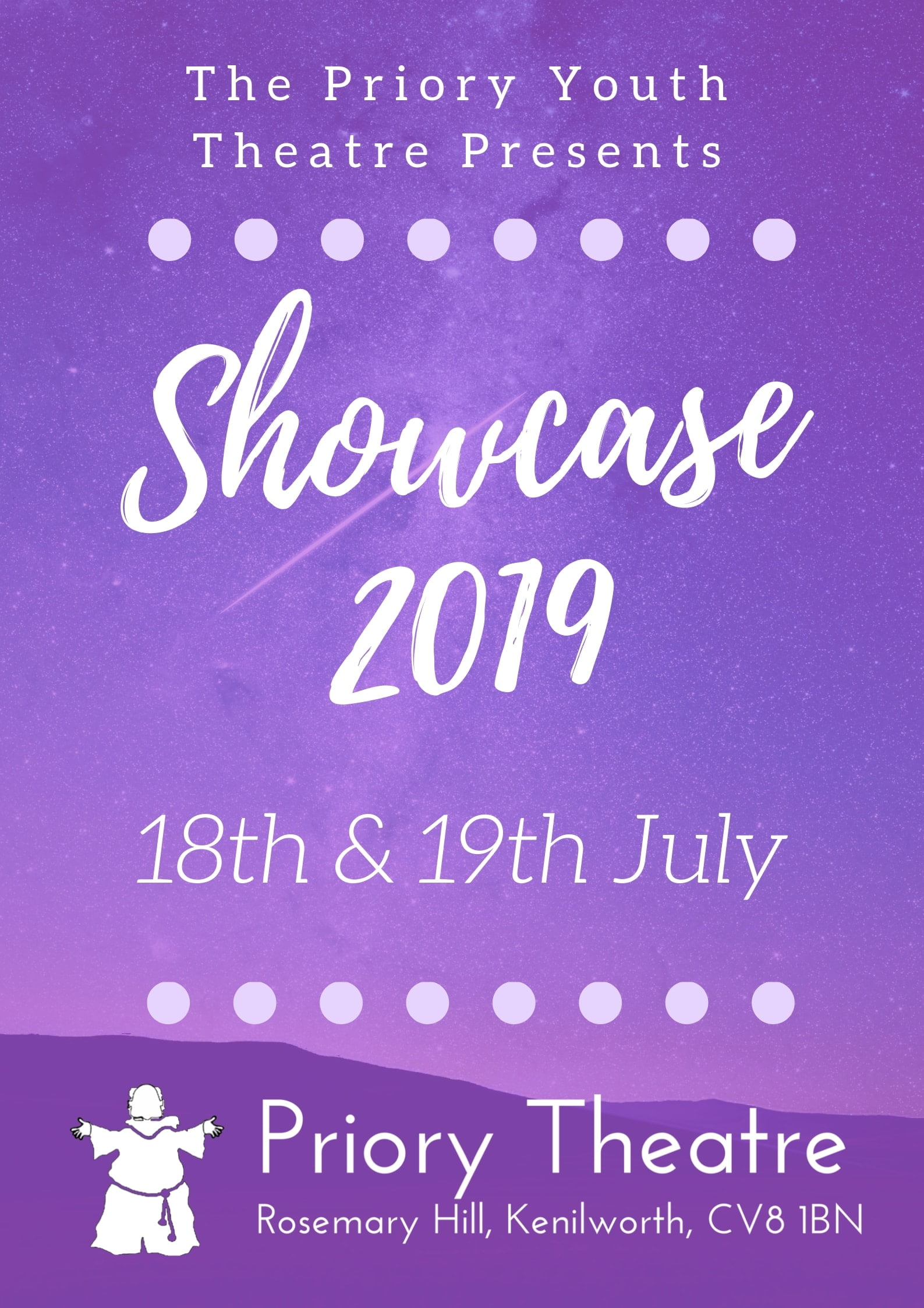 Priory Youth Theatre Showcase 2019 banner image