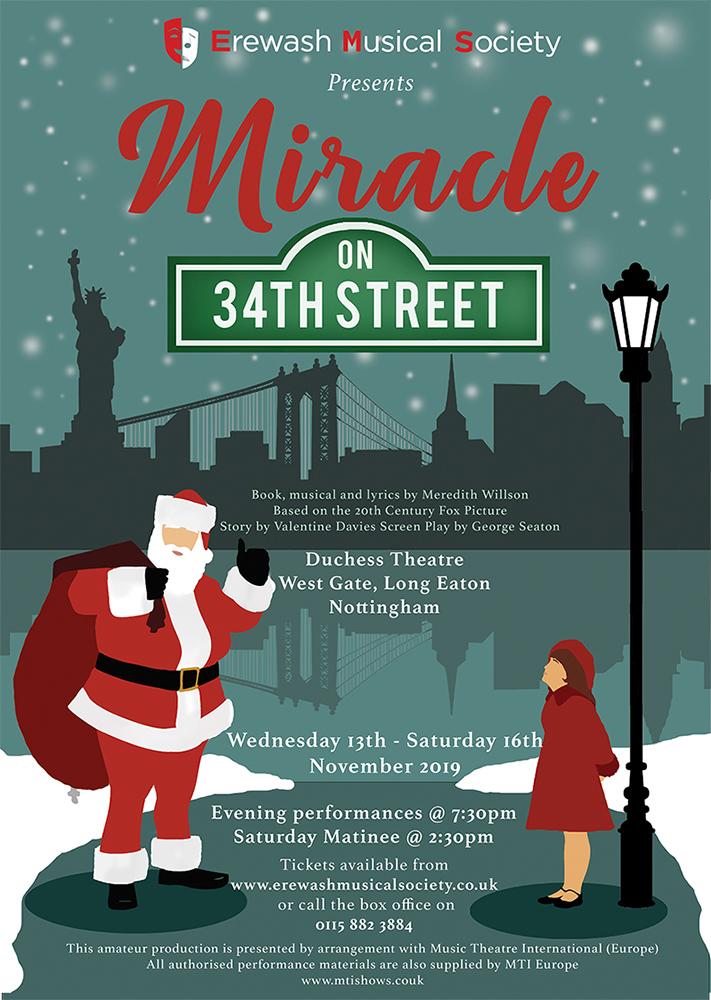 MIRACLE ON 34TH STREET - Erewash Musical Society banner image