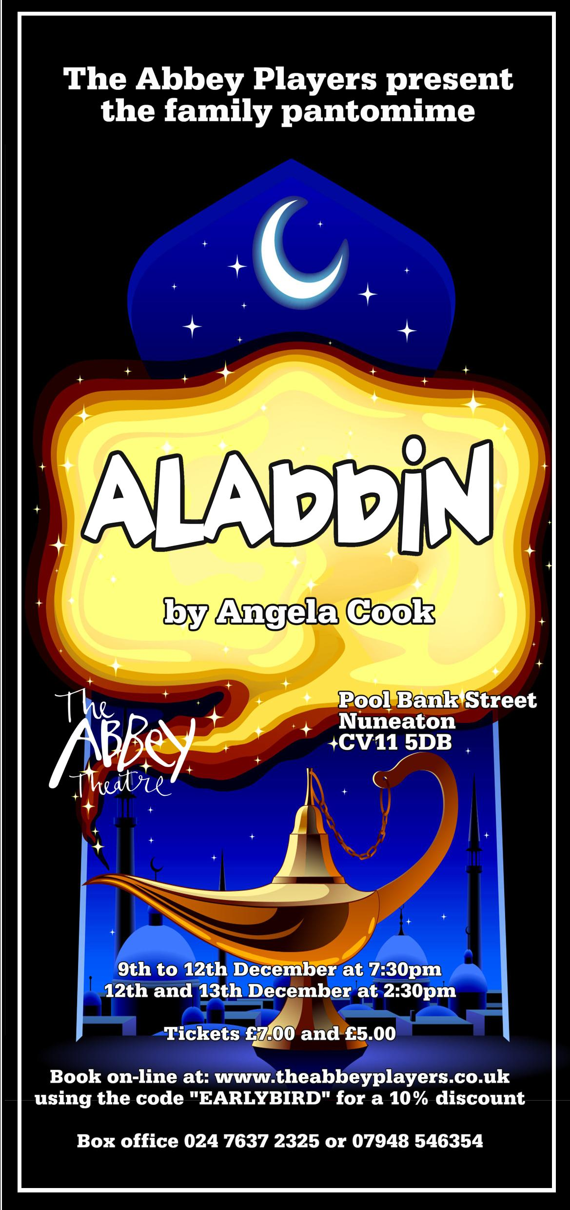 Abbey Players Present Aladdin By Angela Cook At The Theatre Event Tickets From TicketSource