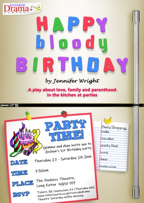 HAPPY BLOODY BIRTHDAY - Riverside Drama Company banner image