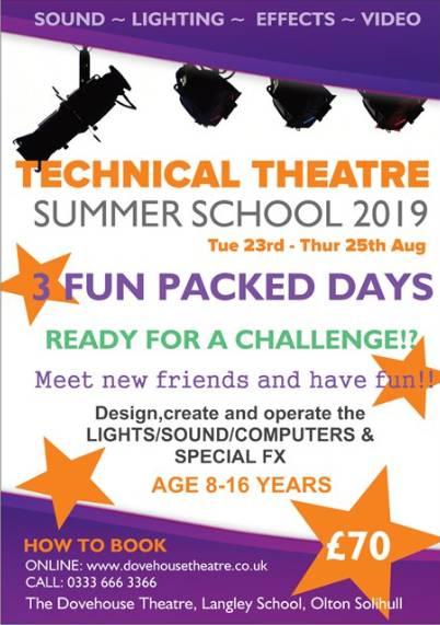 SUMMER SCHOOL 2019 - Techincal Theatre banner image