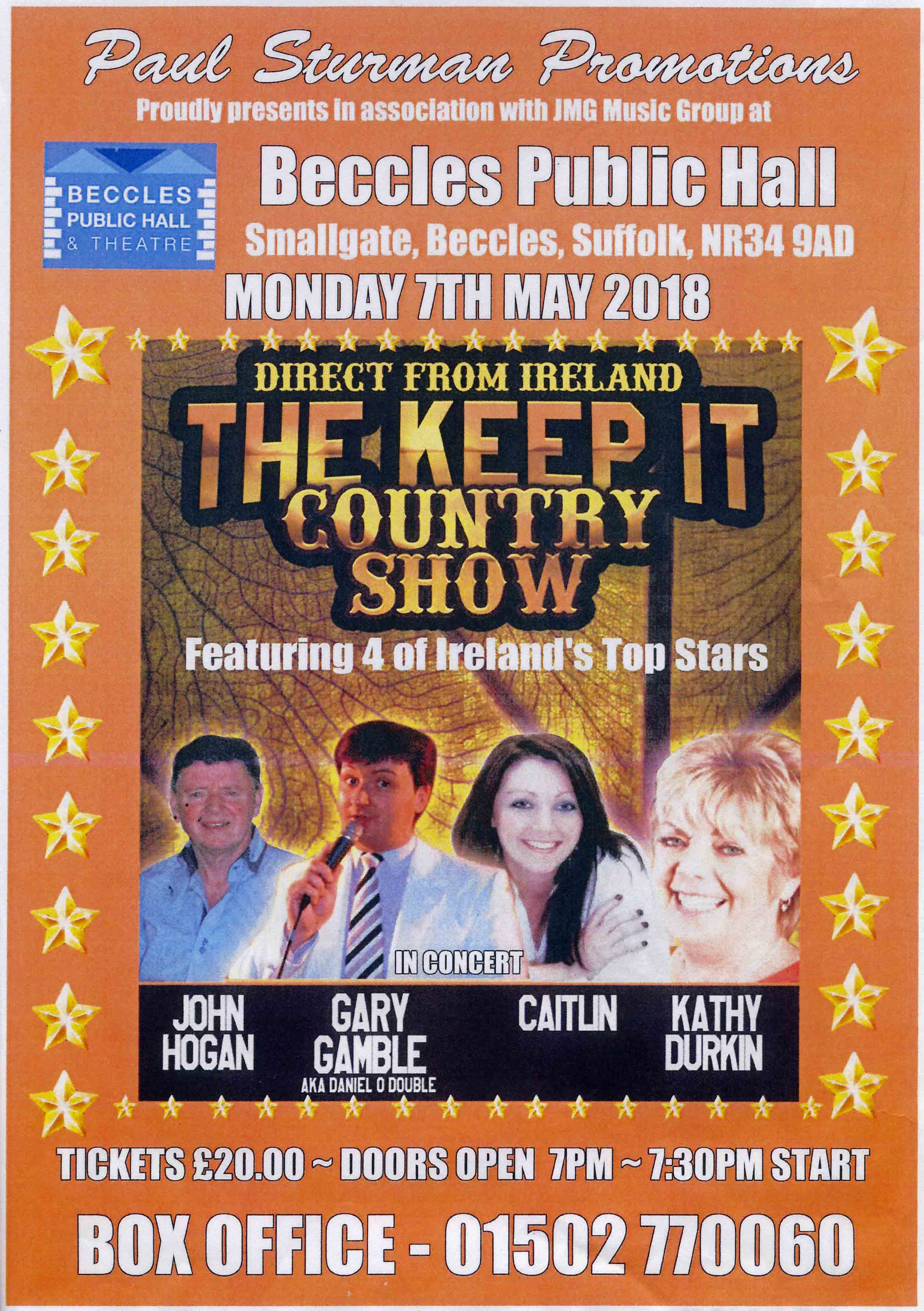 The Keep It Country Show at Beccles Public Hall & Theatre