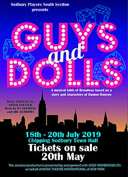 Guys & Dolls,   Music and lyrics by FRANK LOESSER Book by JO SWERLING and ABE BURROWS banner image