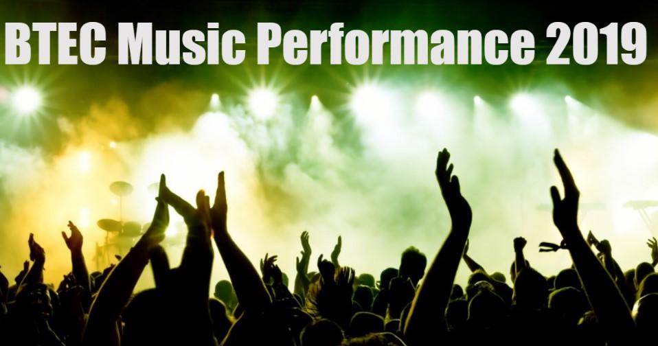 BTEC Level 3 Music Performance assessment banner image