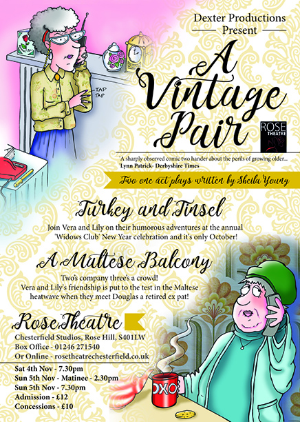 a vintage pair a play in two acts turkey and tinsel a maltese balcony at the rose theatre event tickets from ticketsource online event ticketing