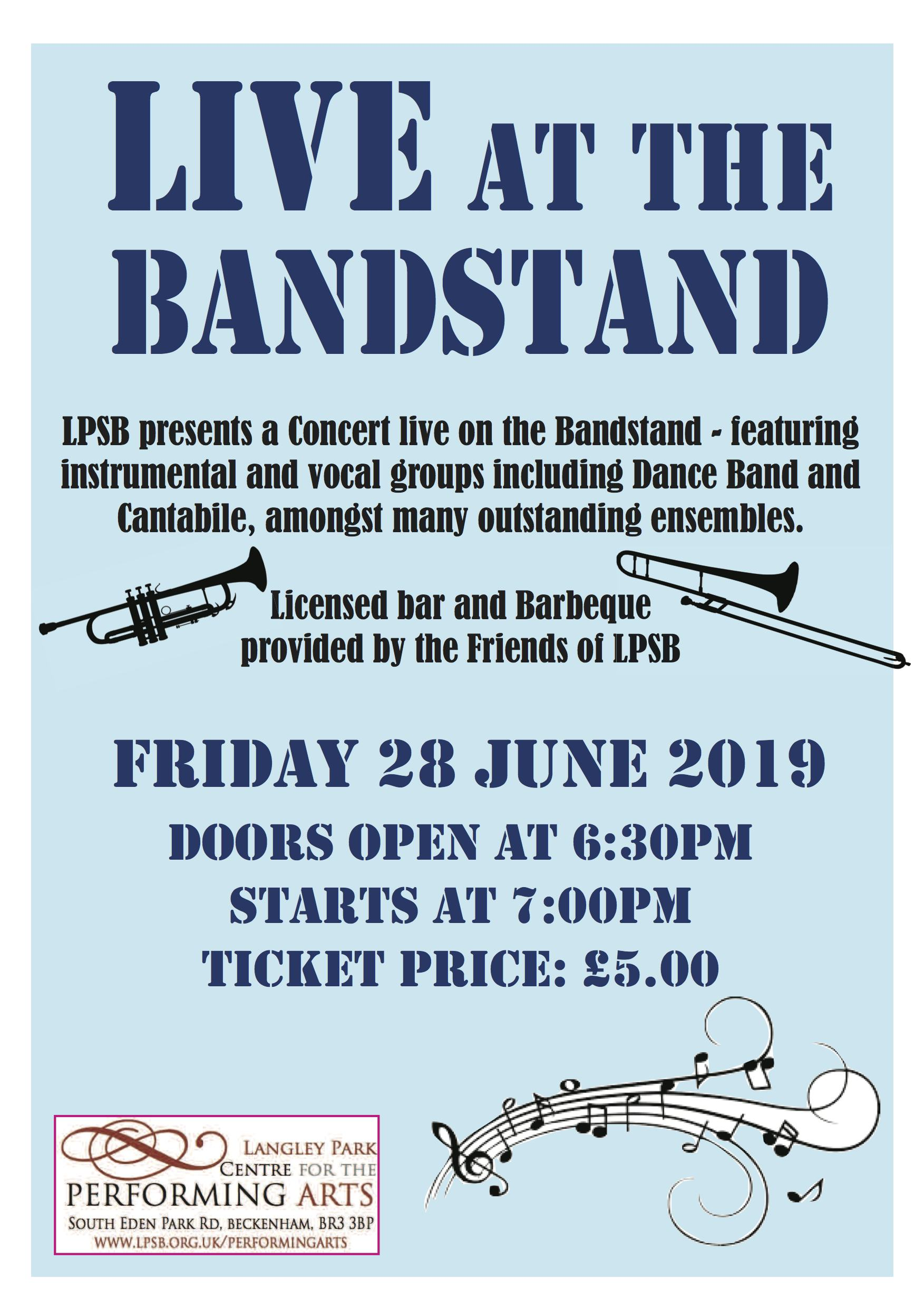 Live at the Bandstand 2019 banner image