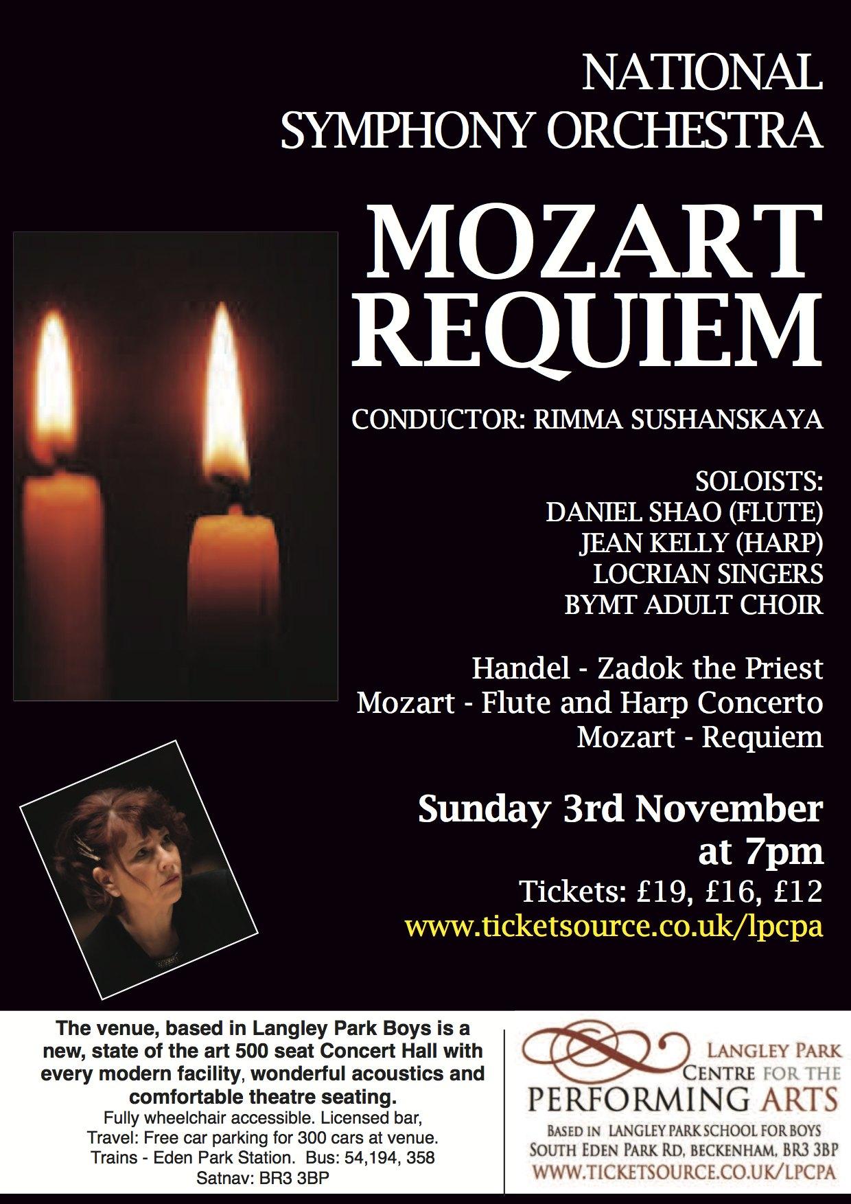 National Symphony Orchestra - Mozart Requiem banner image