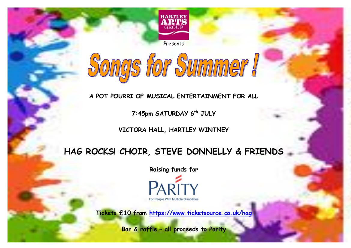 HAG Rocks! - Songs of Summer banner image