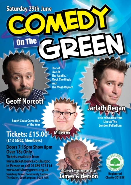Comedy on the Green 2020 (Over 18 only) banner image