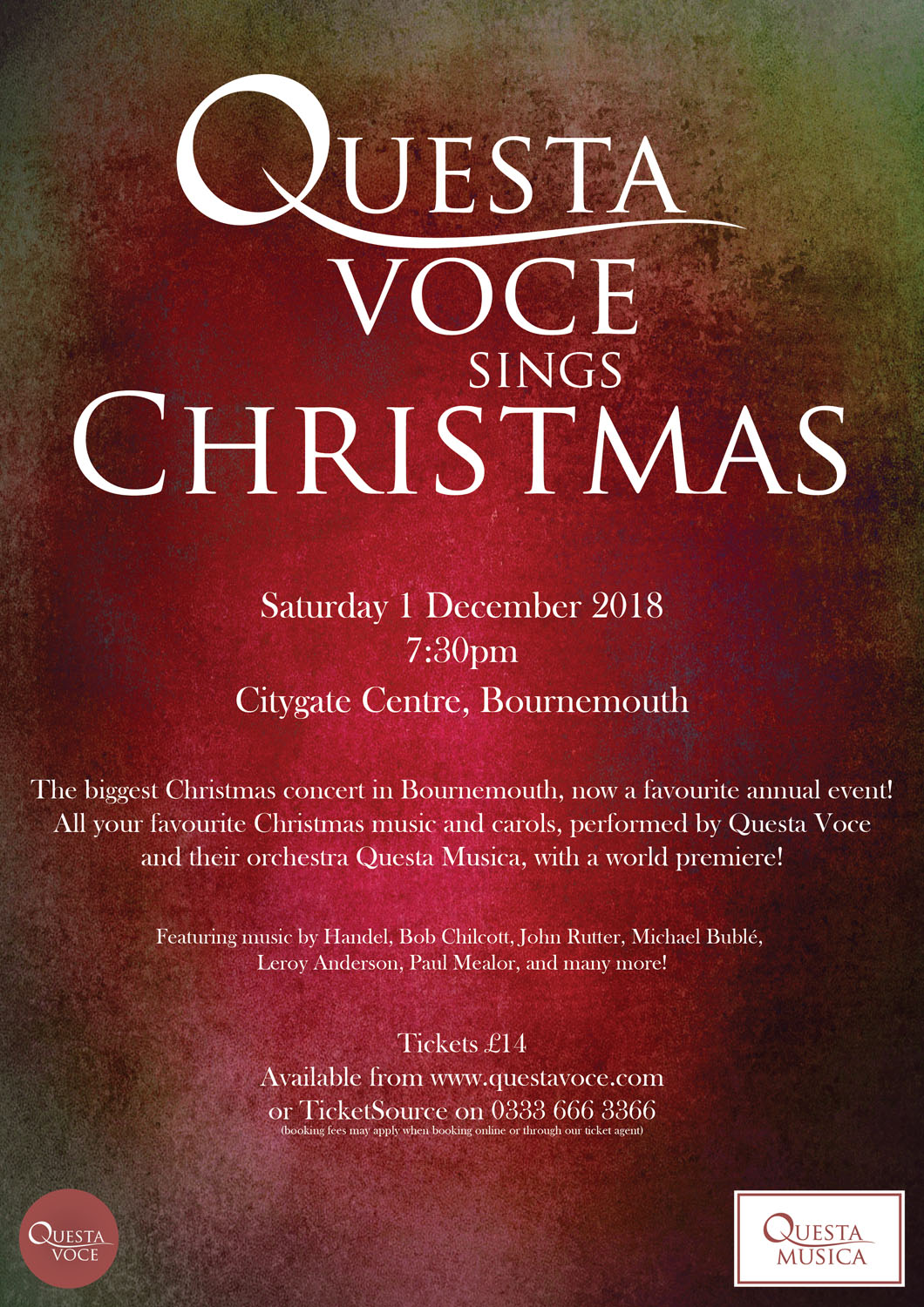 Questa Voce Sings Christmas 2018 at Citygate Centre event tickets ...
