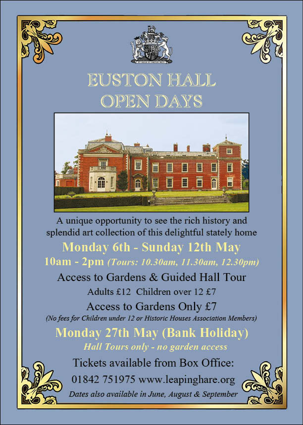 Euston Hall Open Days - May Bank Holiday 2019 banner image