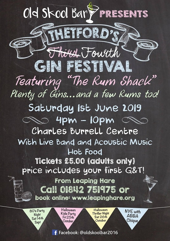 Thetford's Fourth Gin Festival banner image