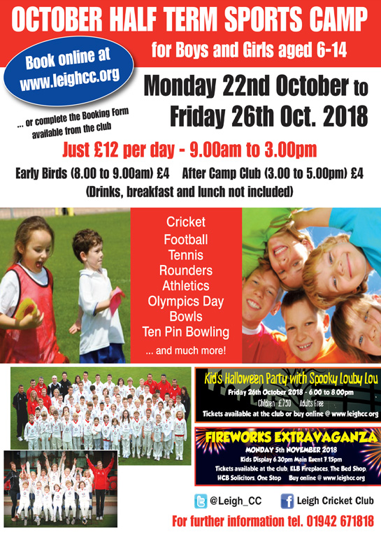 OCTOBER Half Term Multi Sports Camp Monday 21st October 2019 banner image