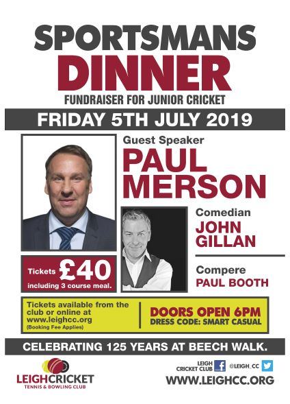 Sportsmans Dinner with PAUL MERSON banner image