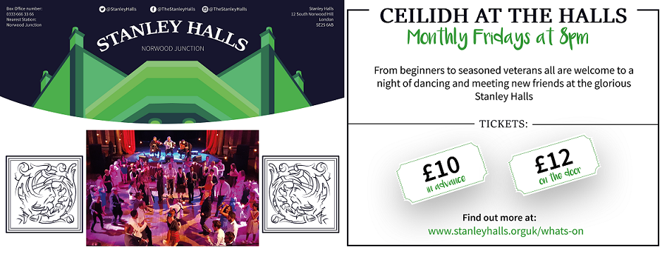 CEILIDH AT THE HALLS: WILL RETURN IN THE AUTUMN banner image