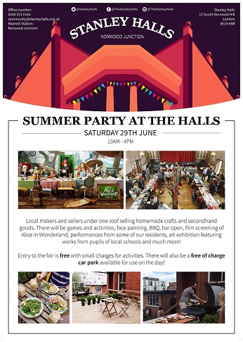 Summer Party at The Halls banner image