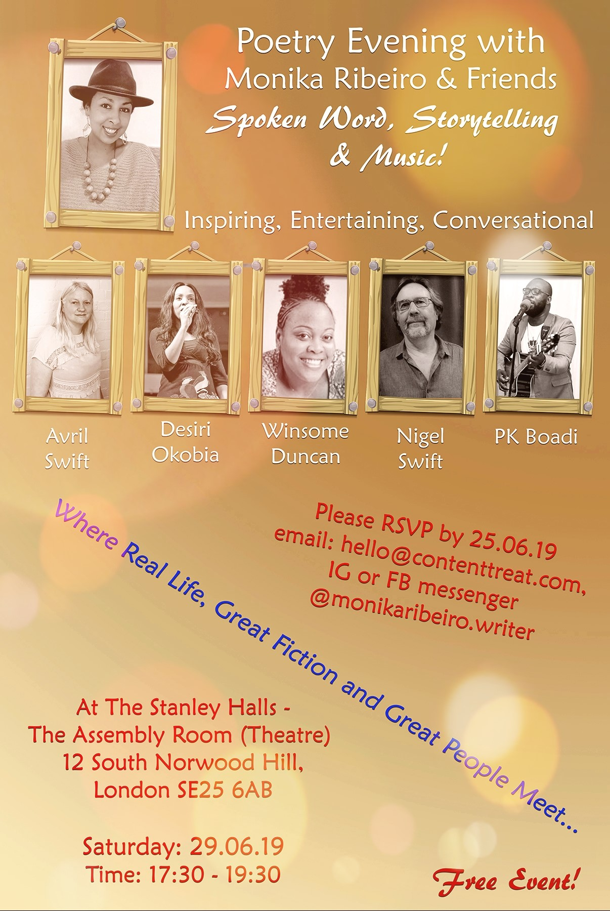 POETRY EVENING WITH MONIKA RIBEIRO & FRIENDS banner image