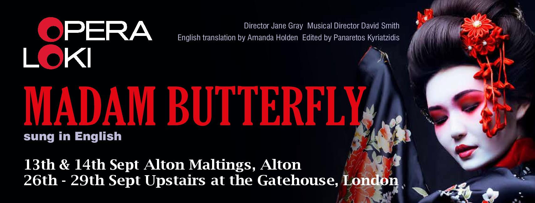 Puccini's Madame Butterfly sung in English in aid of Home-Start WeyWater banner image