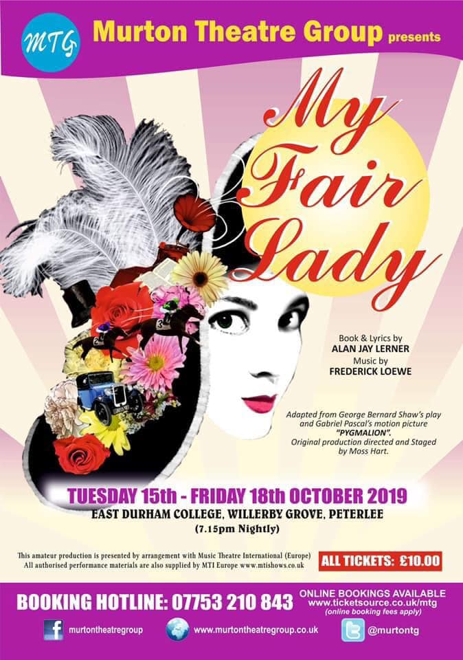 Murton Theatre Group presents 'My Fair Lady' banner image