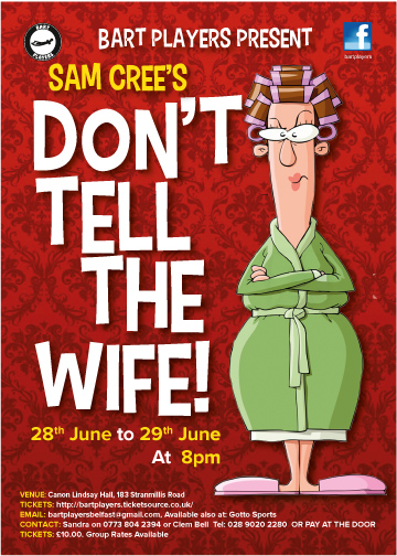 Don't Tell The Wife by Sam Cree banner image