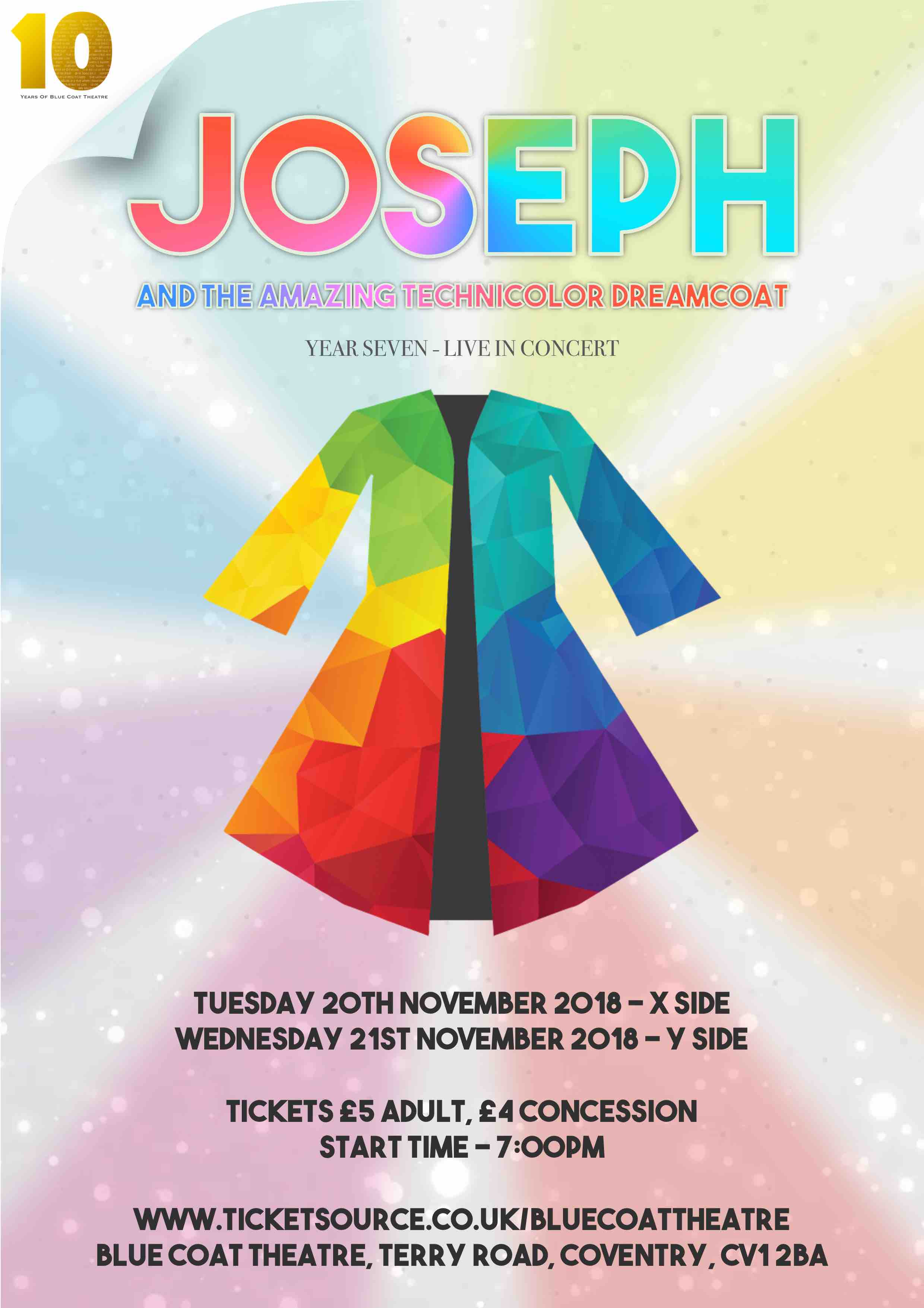 Joseph - In Concert at Blue Coat Theatre event tickets from