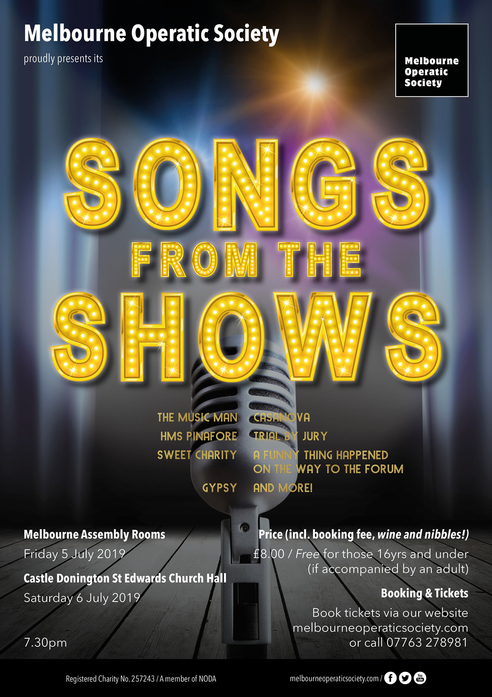 Songs from the Shows - Melbourne Operatic Society banner image