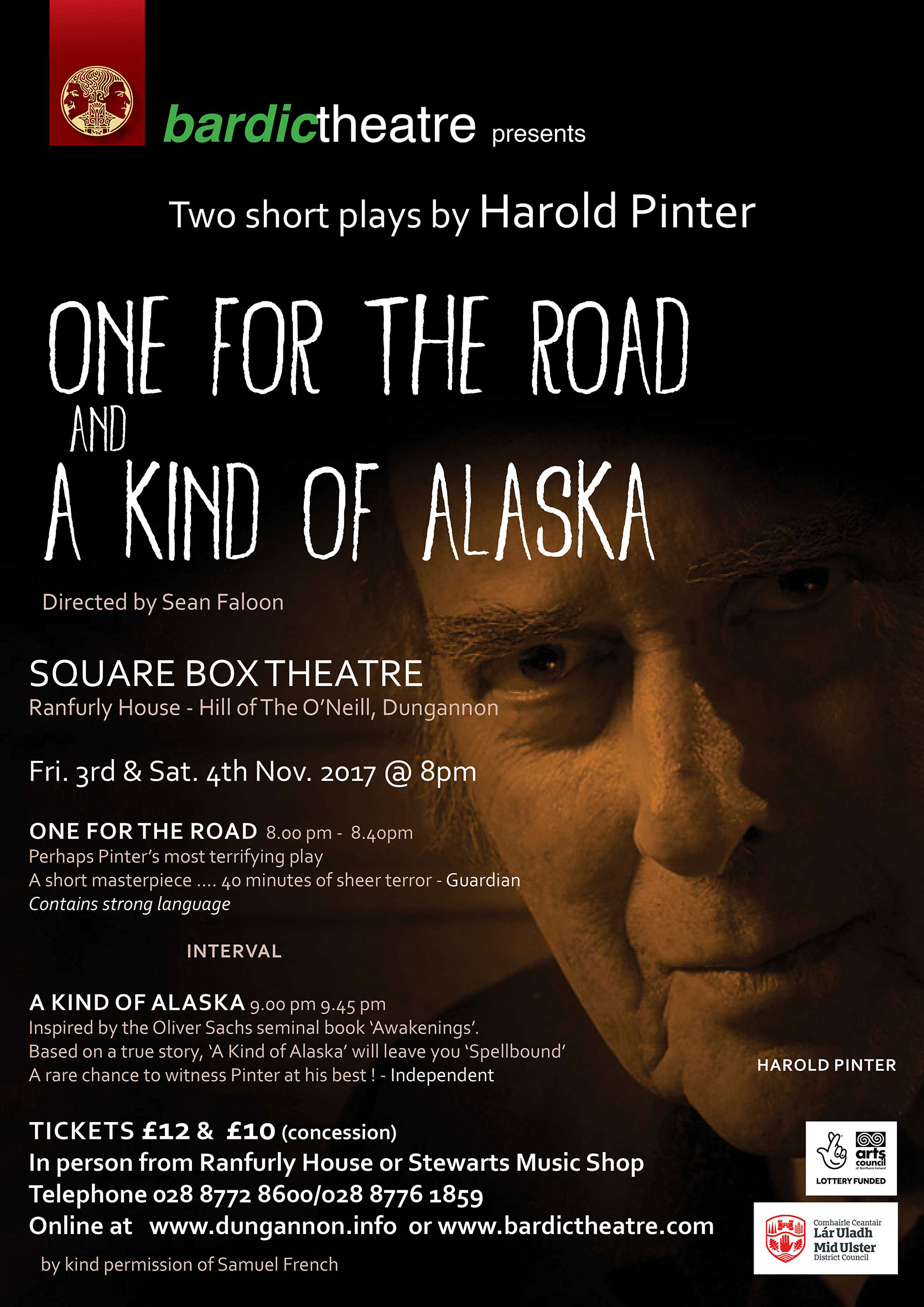 One For The Road A Kind Of Alaska At Hill ONeill Ranfurly House Event Tickets From TicketSource