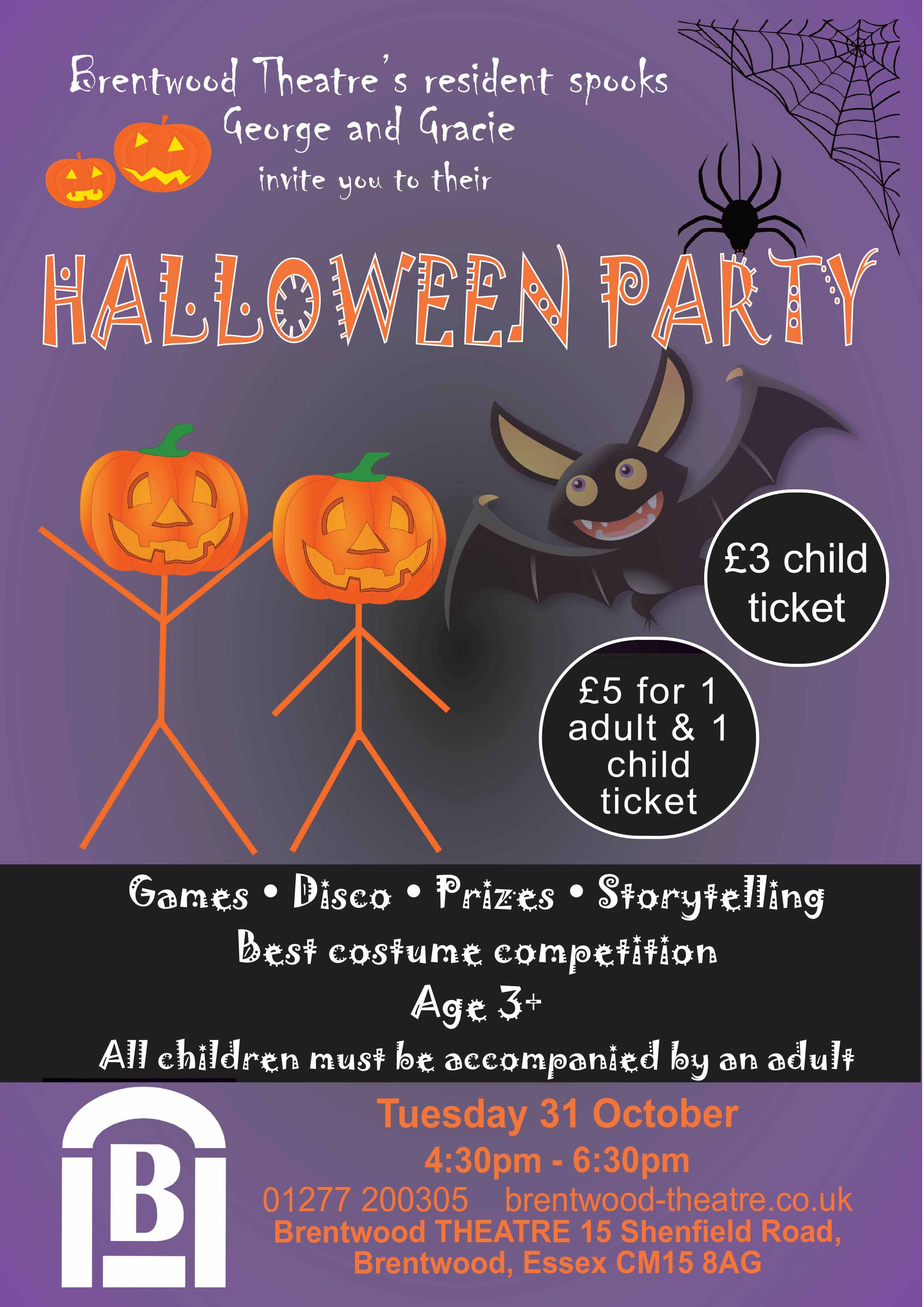 """Halloween Party"""" at Brentwood Theatre"""