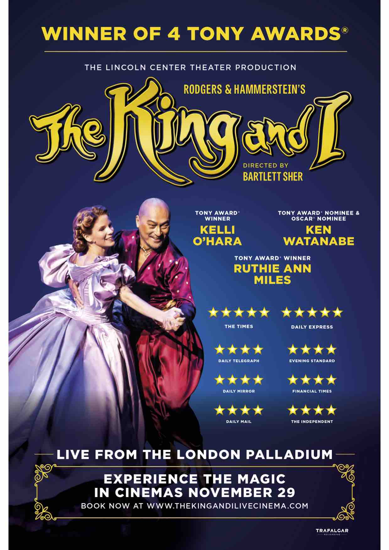 Storbritannien på fötter kl det senaste The King And I From The London Palladium (12A) at Oswestry's ...