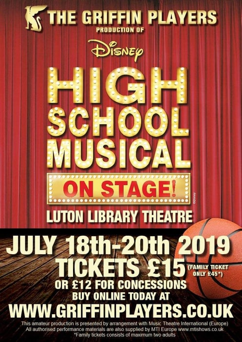 The Griffin Players Present - Disney's High School Musical on Stage banner image